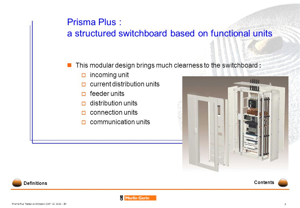 Prisma Plus : a structured switchboard based on functional units