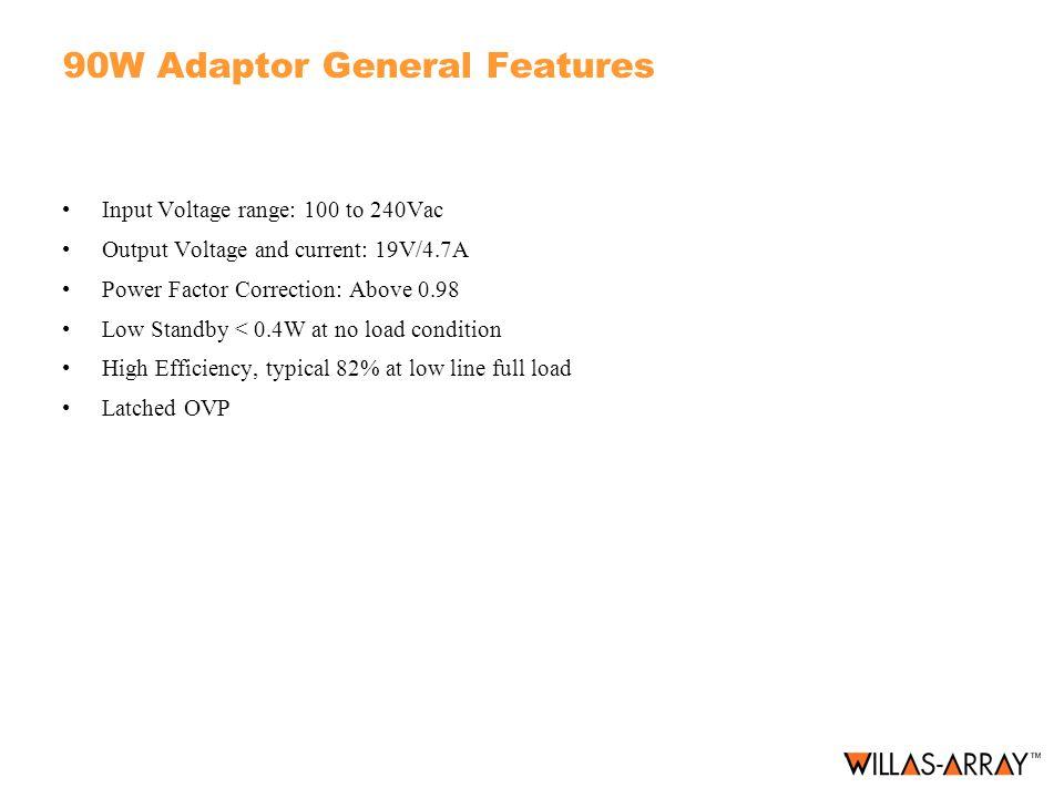 90W Adaptor General Features
