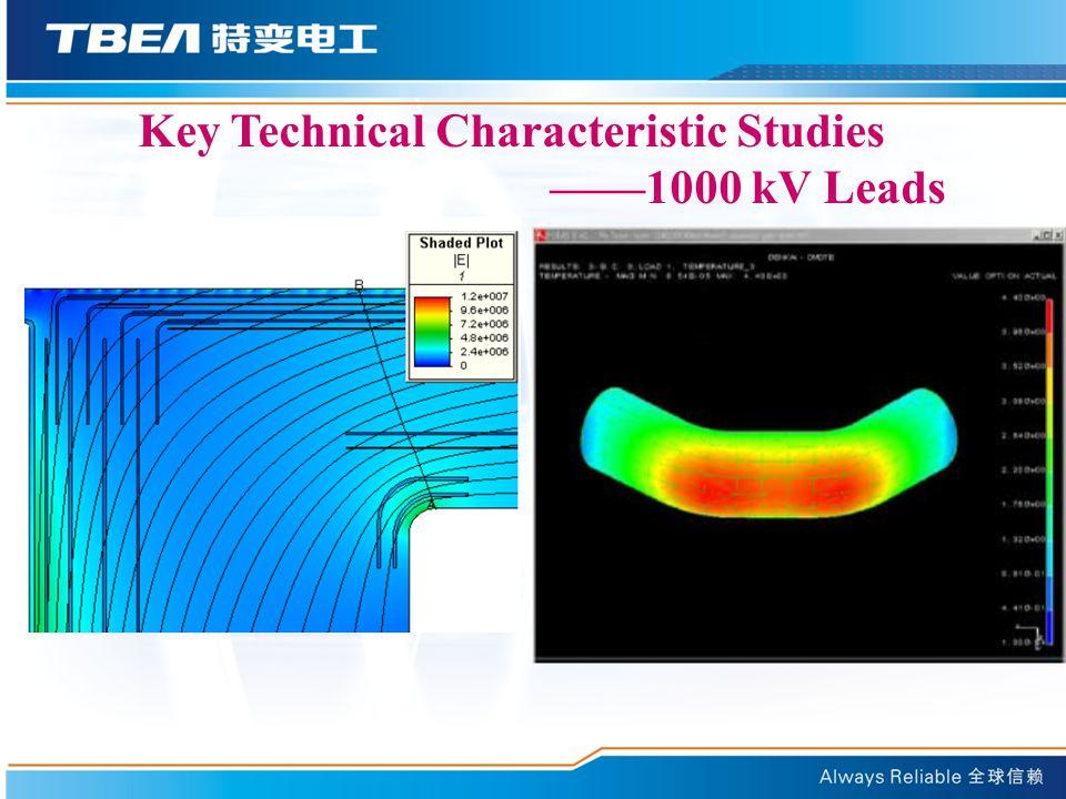 Key Technical Characteristic Studies