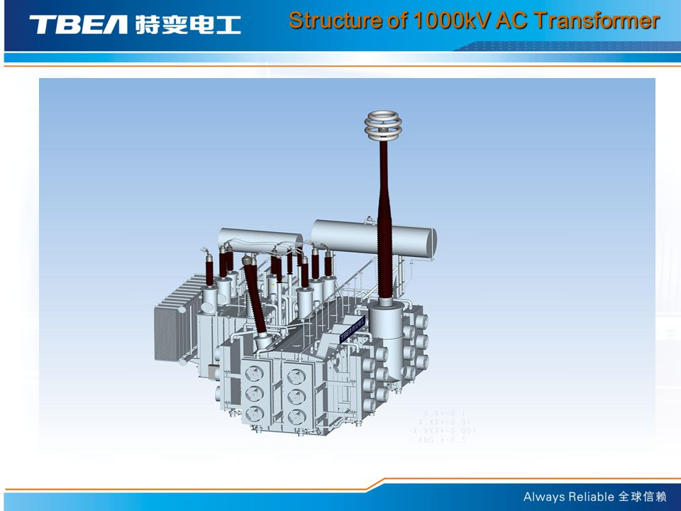 Structure of 1000kV AC Transformer