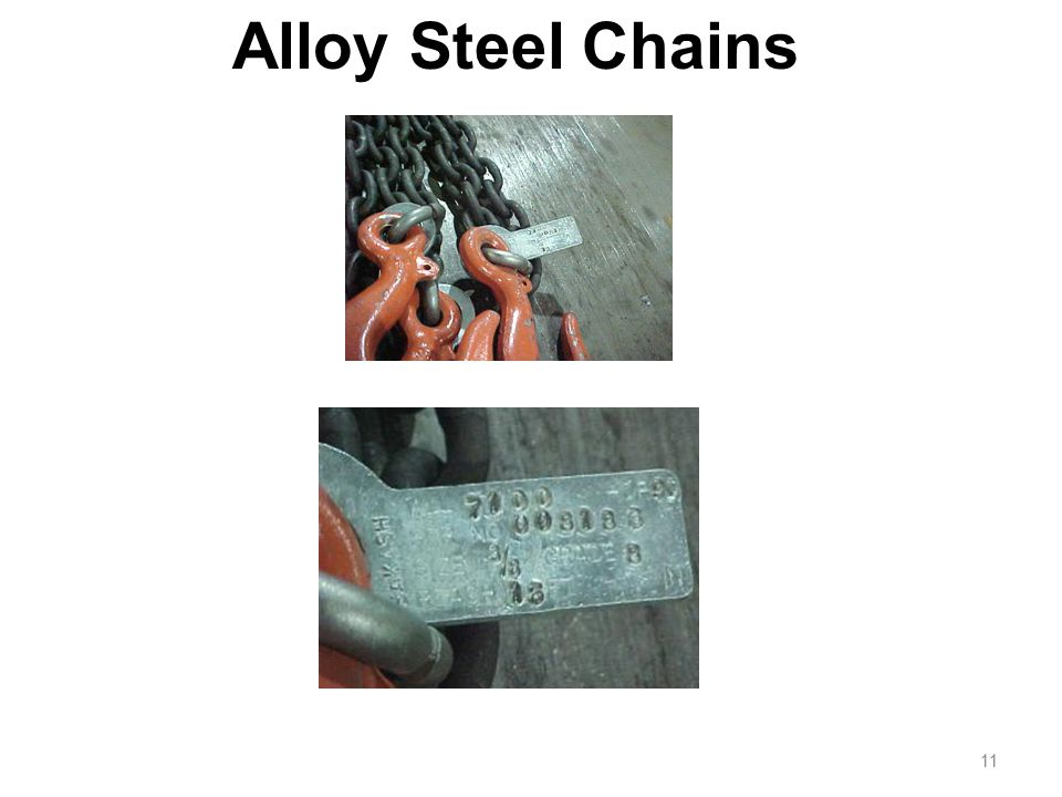 Alloy Steel Chains Adapts to shape of the load