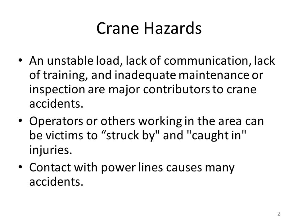 Crane Hazards