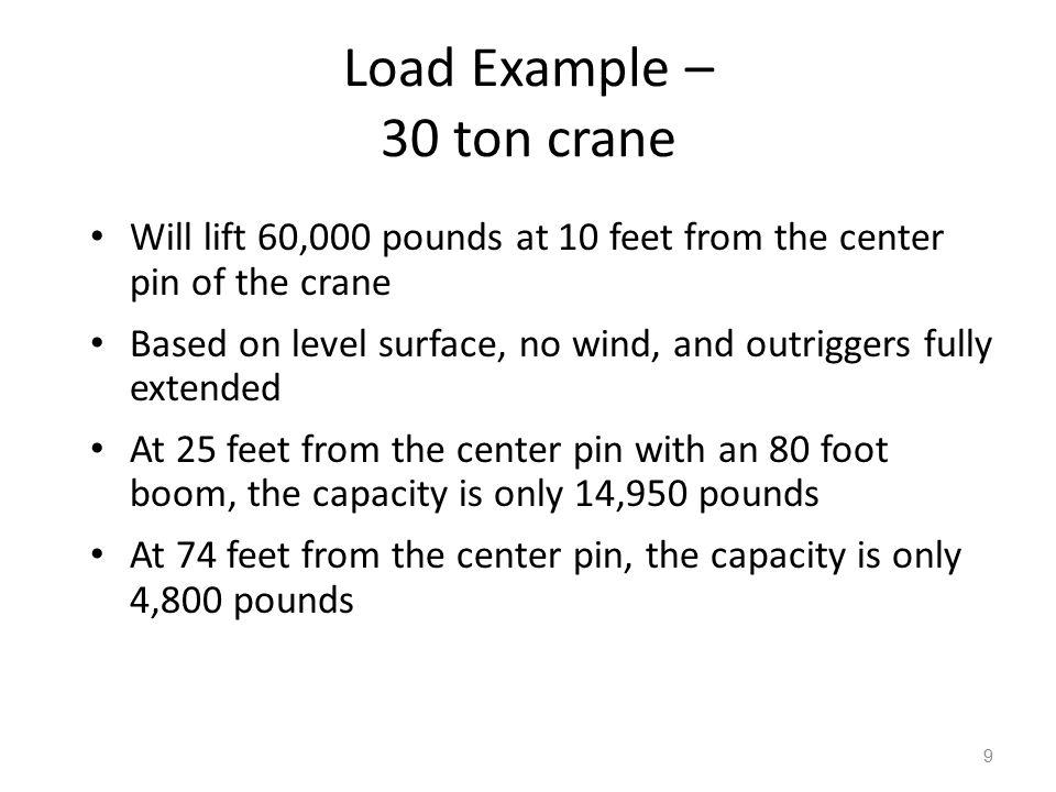 Load Example – 30 ton crane