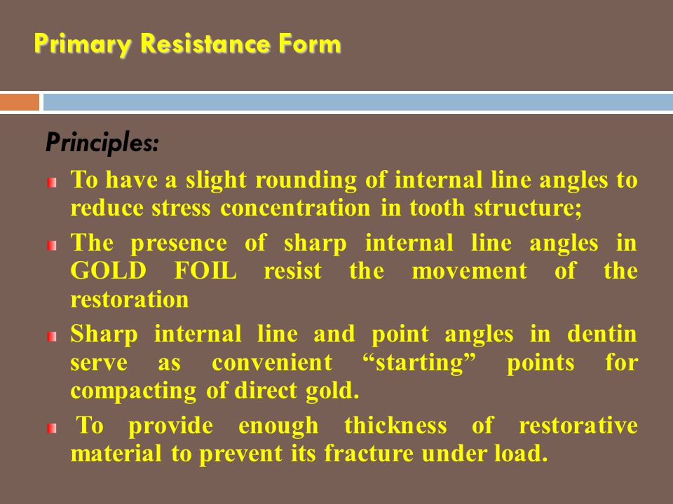 Primary Resistance Form
