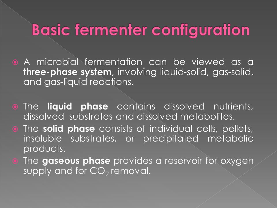 Basic fermenter configuration