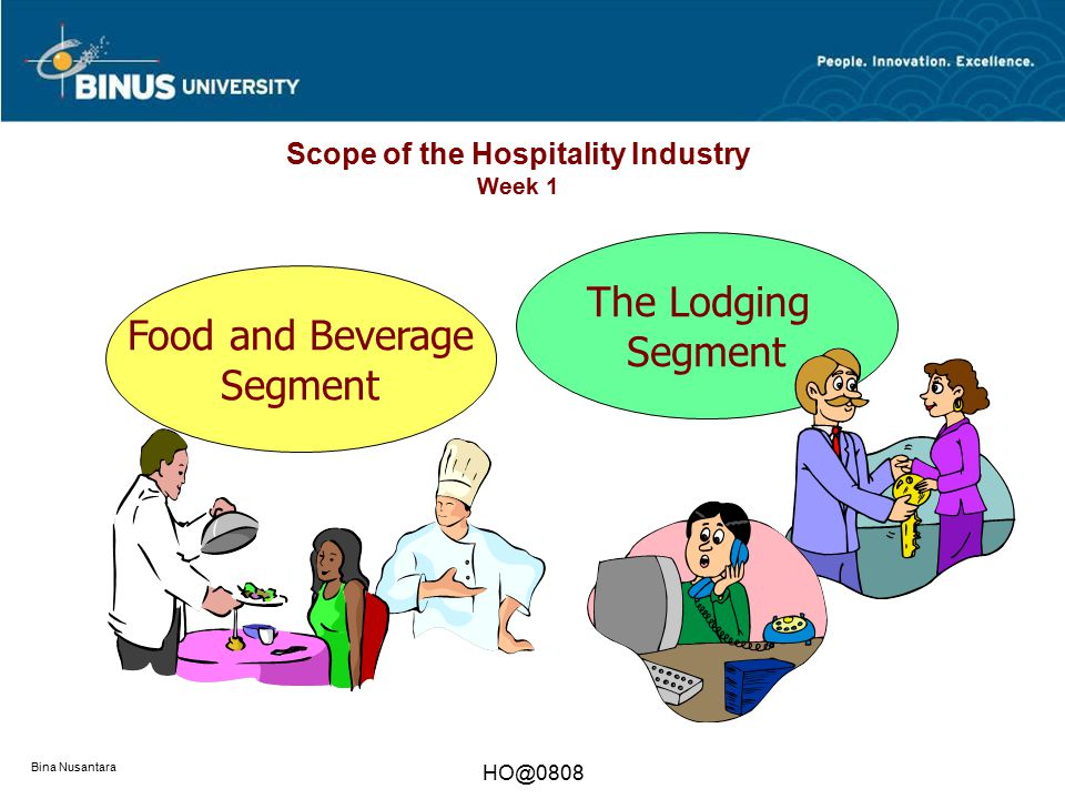 Scope of the Hospitality Industry Week 1