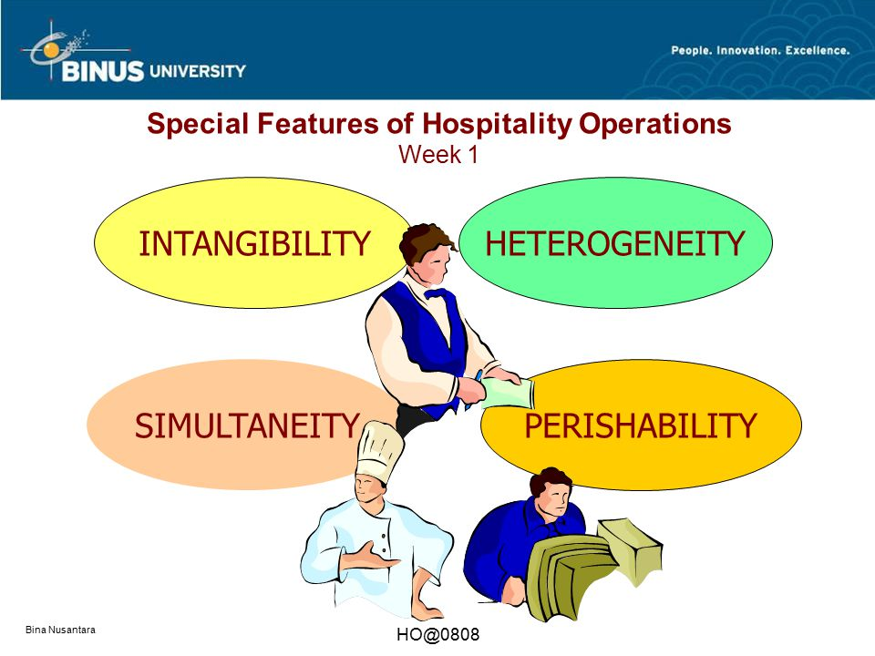 Special Features of Hospitality Operations Week 1
