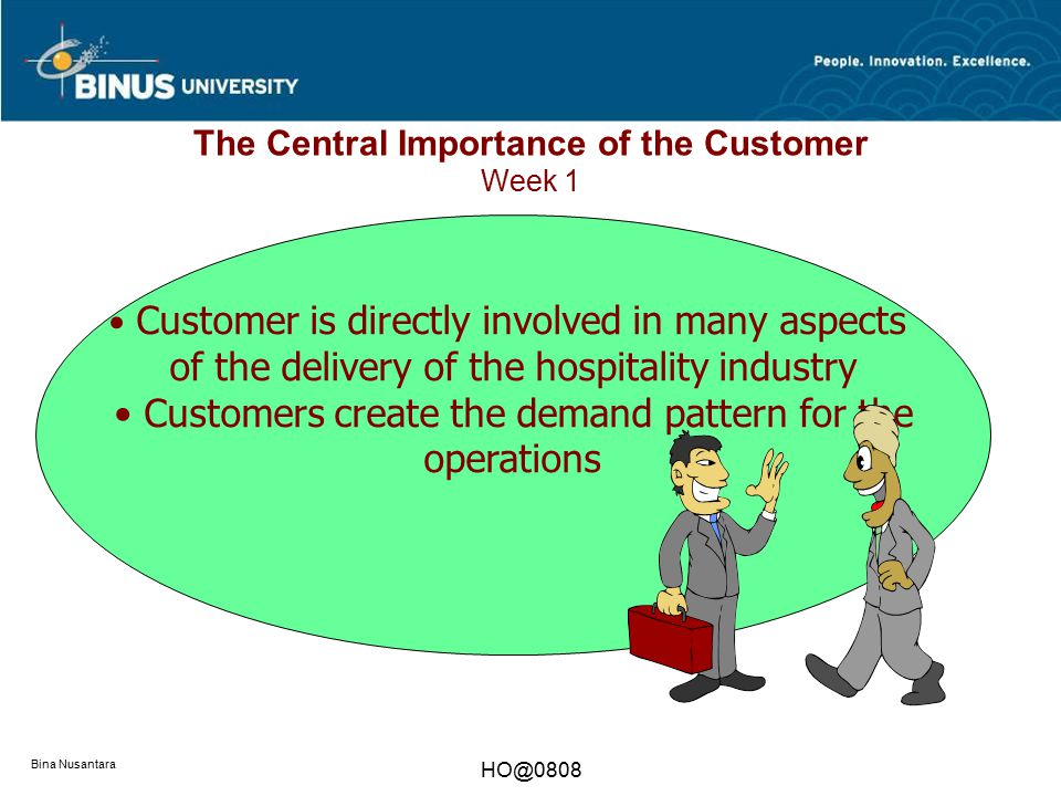 The Central Importance of the Customer Week 1
