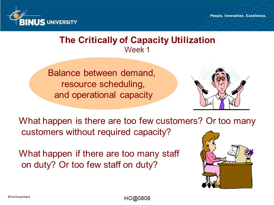 The Critically of Capacity Utilization Week 1