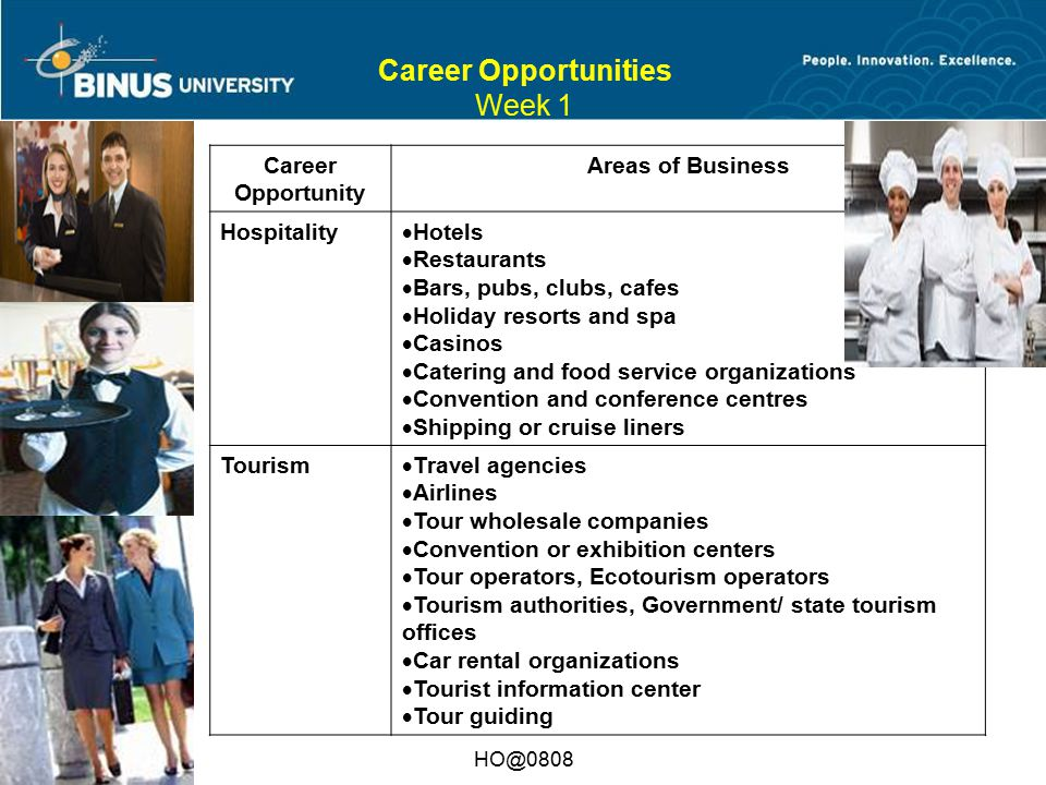 Career Opportunities Week 1