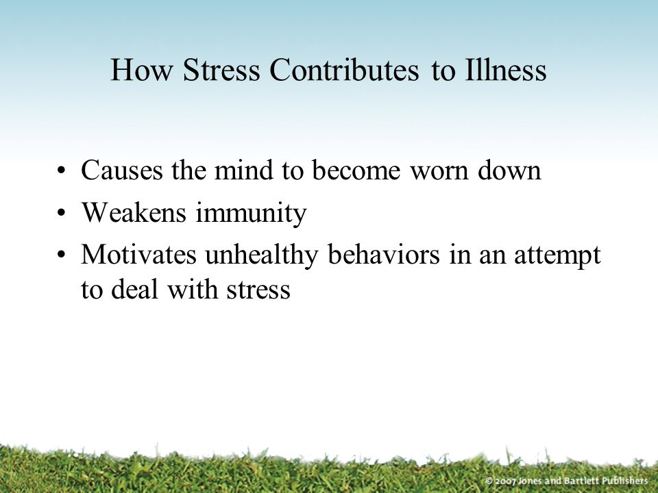 How Stress Contributes to Illness