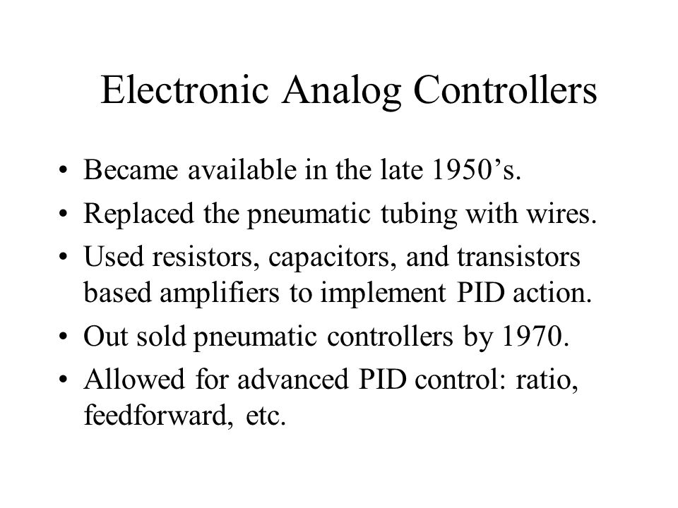 Electronic Analog Controllers