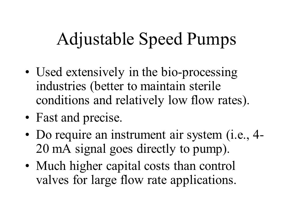 Adjustable Speed Pumps