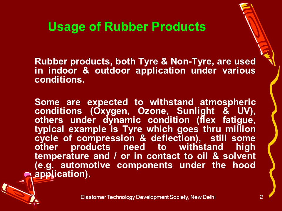 Usage of Rubber Products