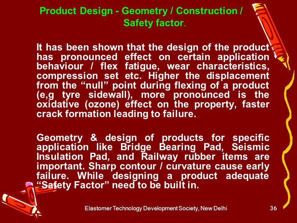 Product Design - Geometry / Construction / Safety factor.