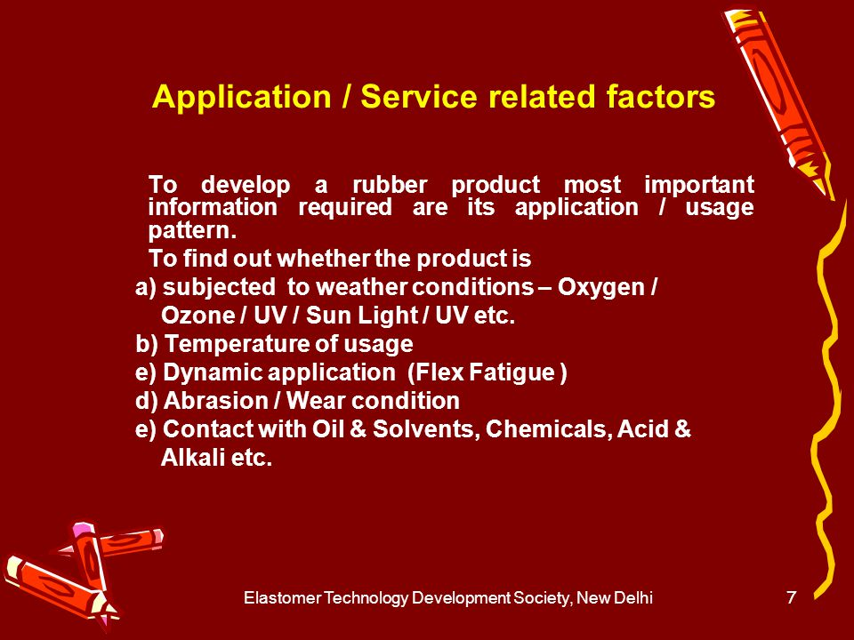 Application / Service related factors