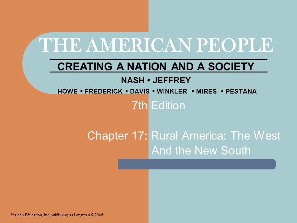 Chapter 17: Rural America: The West