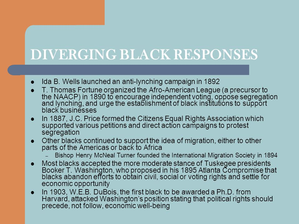 DIVERGING BLACK RESPONSES