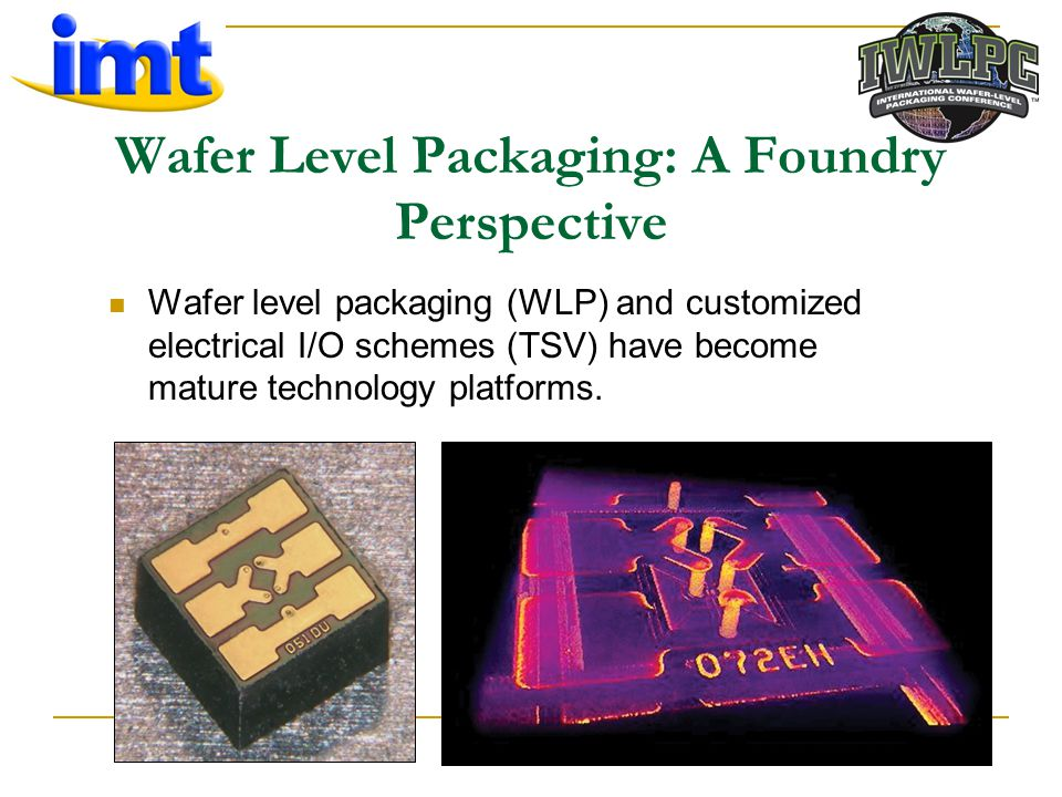 Wafer Level Packaging: A Foundry Perspective