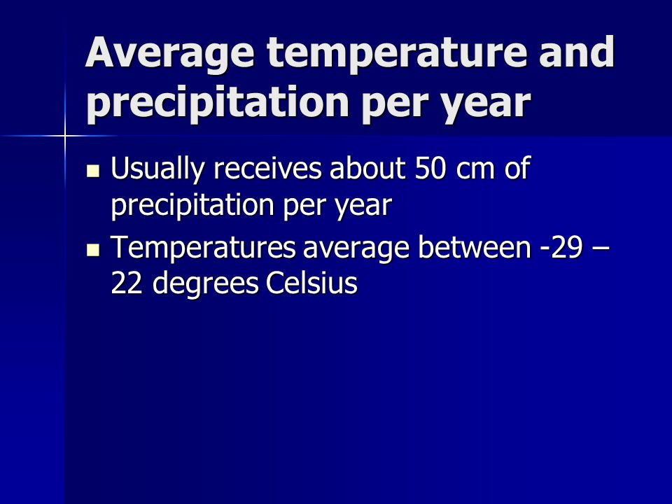 Average temperature and precipitation per year