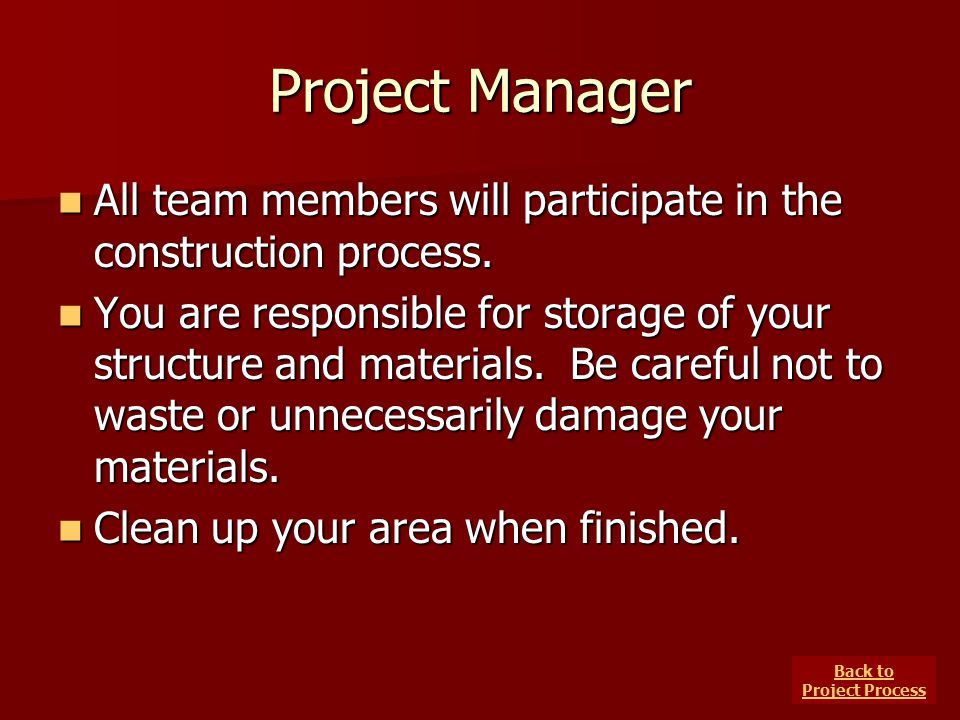 Back to Project Process