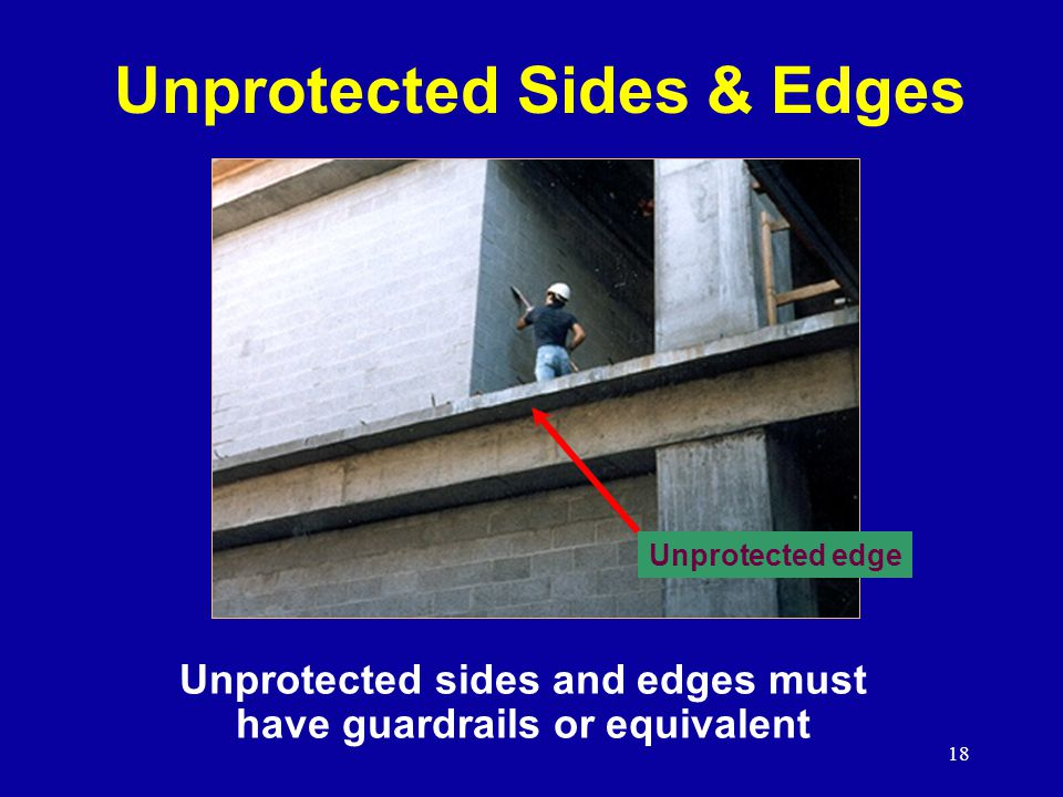 Unprotected Sides & Edges