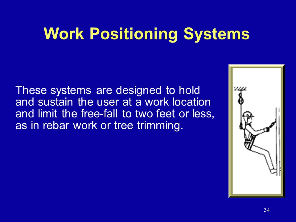 Work Positioning Systems