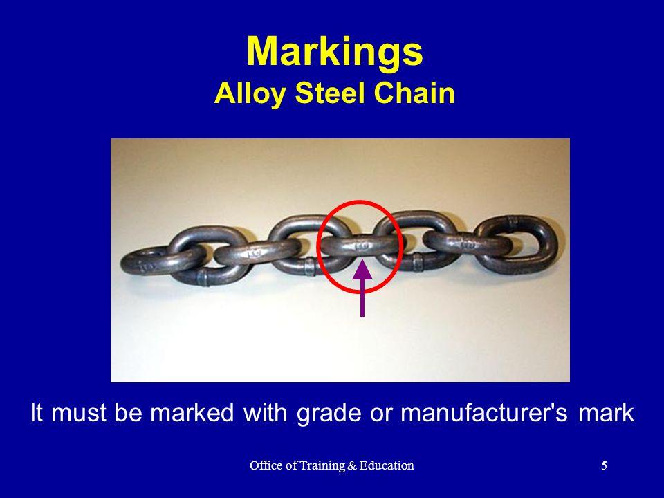 Markings Alloy Steel Chain