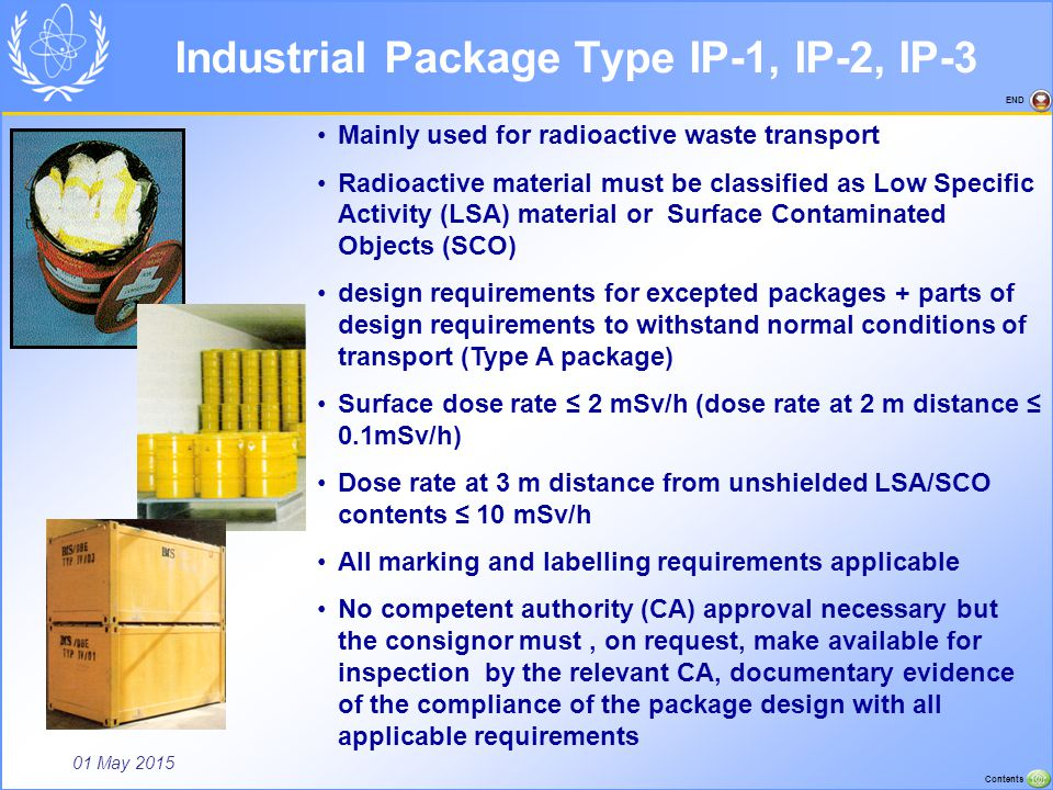 Industrial Package Type IP-1, IP-2, IP-3