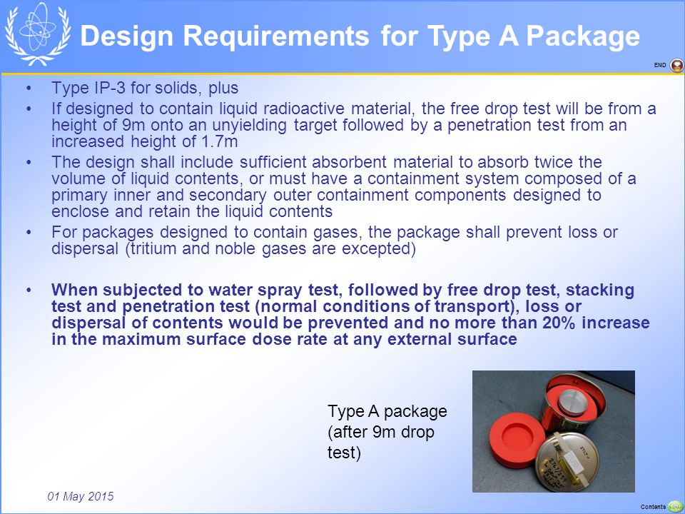 Design Requirements for Type A Package