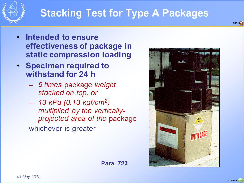 Stacking Test for Type A Packages