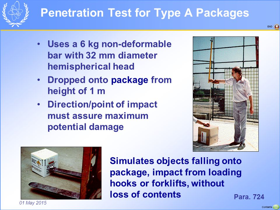 Penetration Test for Type A Packages