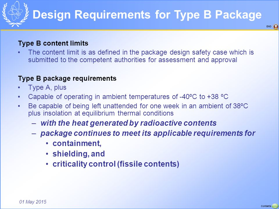 Design Requirements for Type B Package