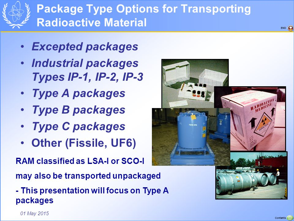 Package Type Options for Transporting Radioactive Material