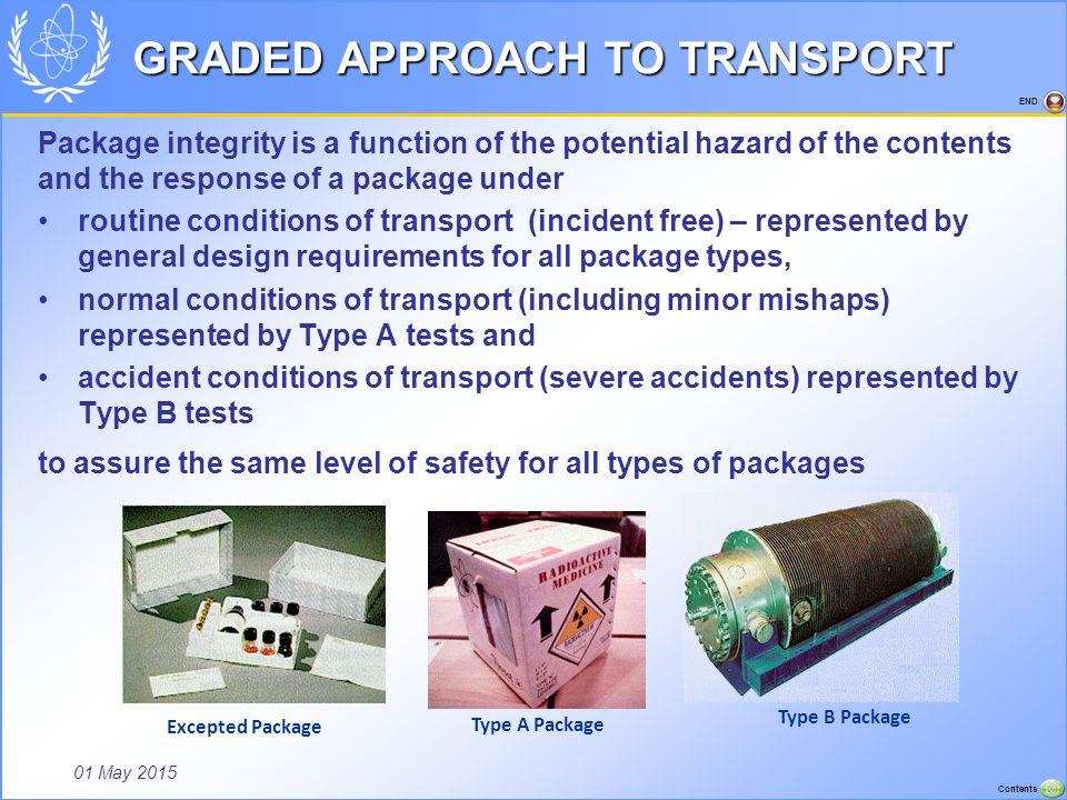 GRADED APPROACH TO TRANSPORT