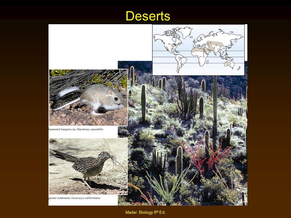 Deserts Mader: Biology 8th Ed.