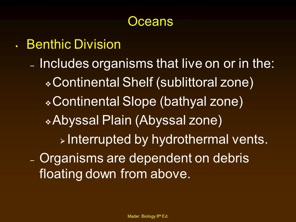 Includes organisms that live on or in the:
