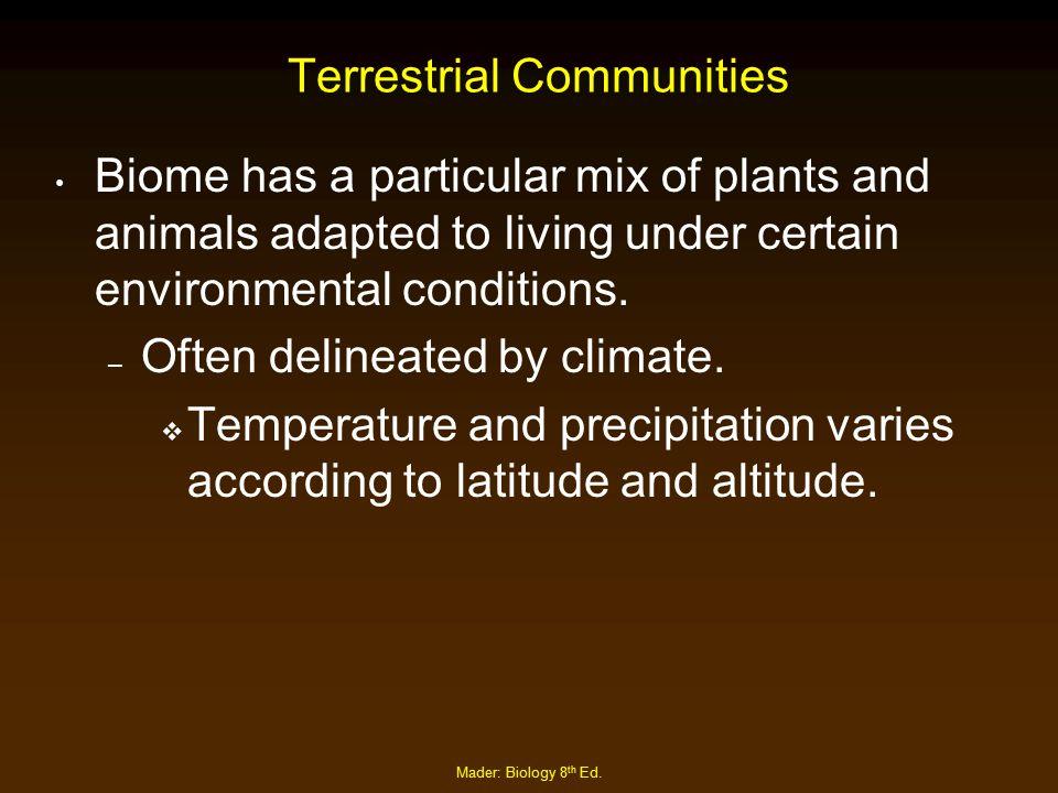Terrestrial Communities