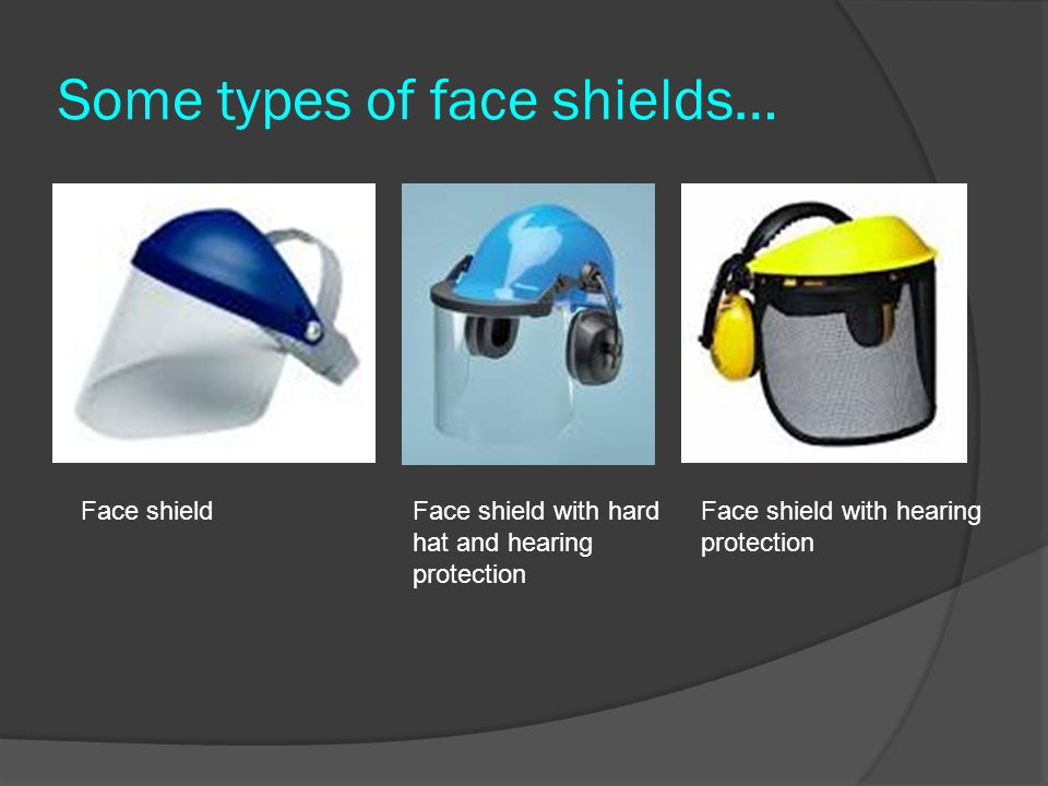 Some types of face shields…
