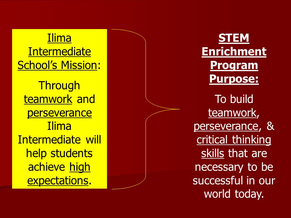 STEM Enrichment Program Purpose: