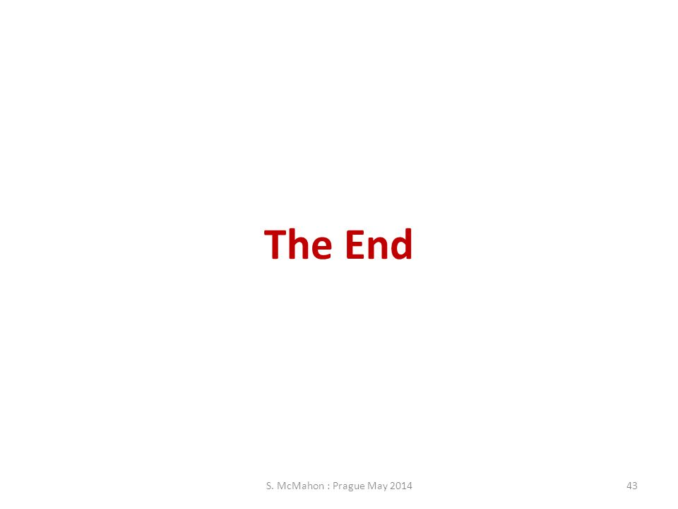 The End S. McMahon : Prague May 2014