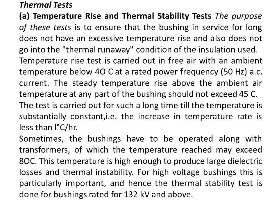 Thermal Tests