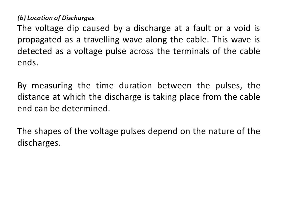 (b) Location of Discharges