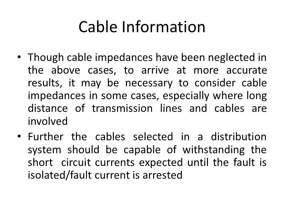 Cable Information