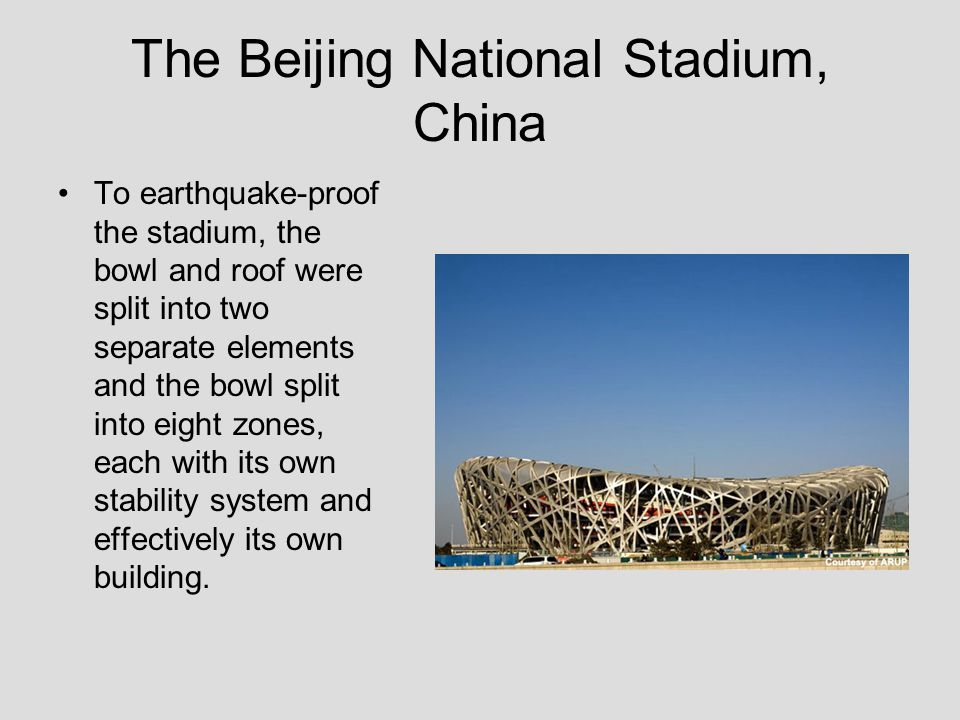 The Beijing National Stadium, China