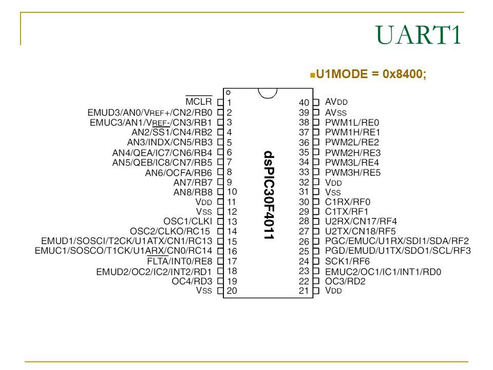 UART1 U1MODE = 0x8400;