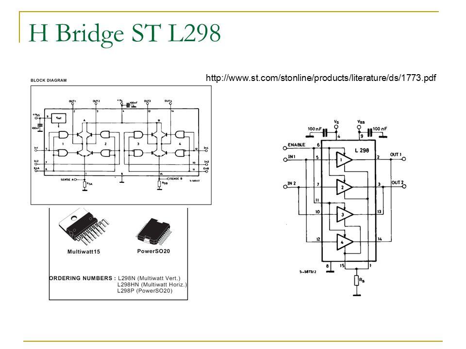 H Bridge ST L298 http://www.st.com/stonline/products/literature/ds/1773.pdf