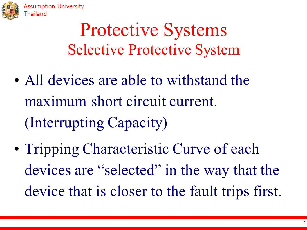 Protective Systems Selective Protective System