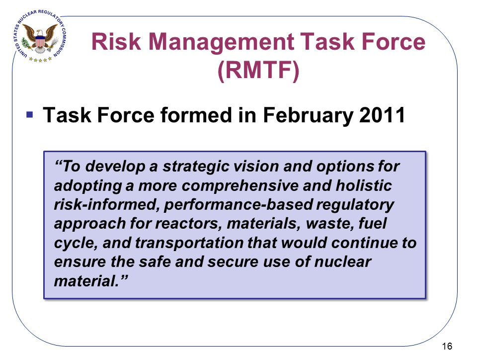 Risk Management Task Force (RMTF)