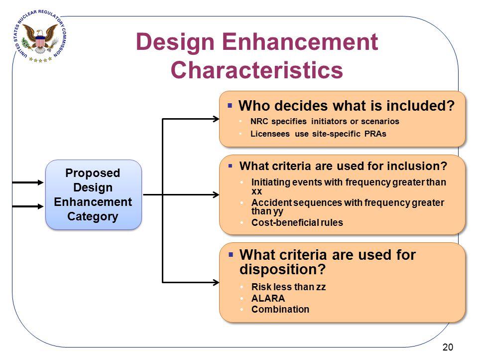 Design Enhancement Characteristics